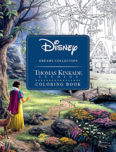 9781449483180 Disney Dreams Collection Thomas Kinkade Studios Coloring Book