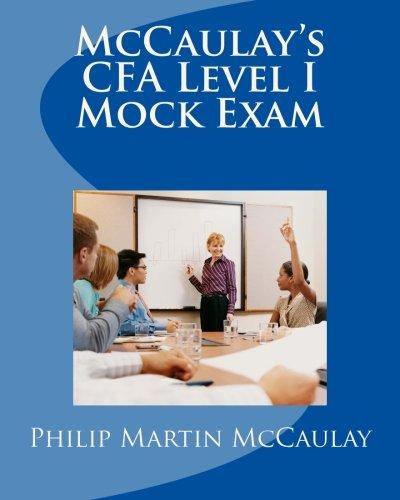 9781449505943: McCaulay's CFA Level I Mock Exam