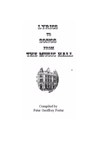 9781449559021: Lyrics to Songs from the Music Hall