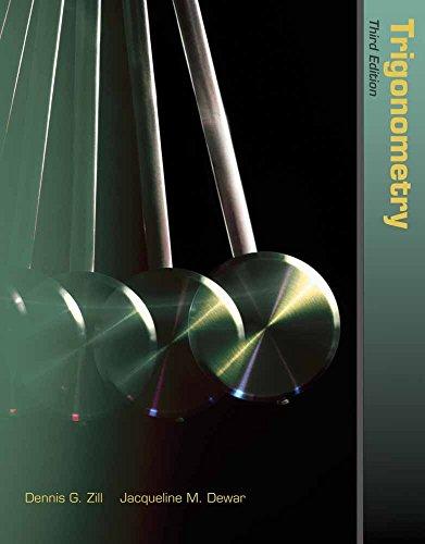 9781449606046: Trigonometry (The Jones & Bartlett Learning International Series in Mathematics)
