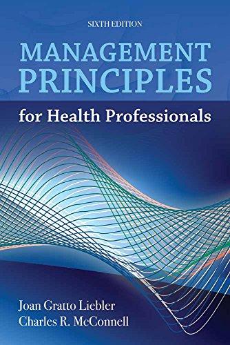 9781449614683: Management Principles for Health Professionals