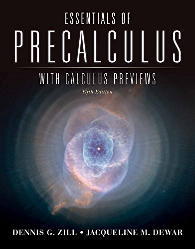 9781449614973: Essentials of Precalculus with Calculus Previews (Jones & Bartlett Learning Series in Mathematics)