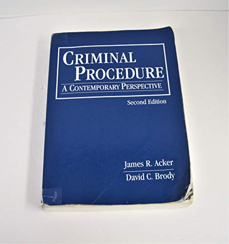 9781449628956: Criminal Procedure: Contemporary Perspectives