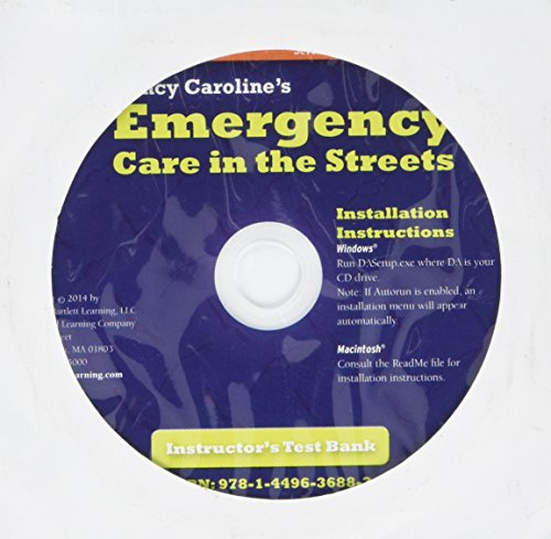 9781449636883: Nancy Caroline's Emergency Care In The Streets, Instructor's Testbank On CD-ROM
