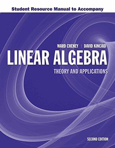 Student Resource Manual to Accompany Linear Algebra: