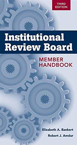 9781449647445: Institutional Review Board Member Handbook