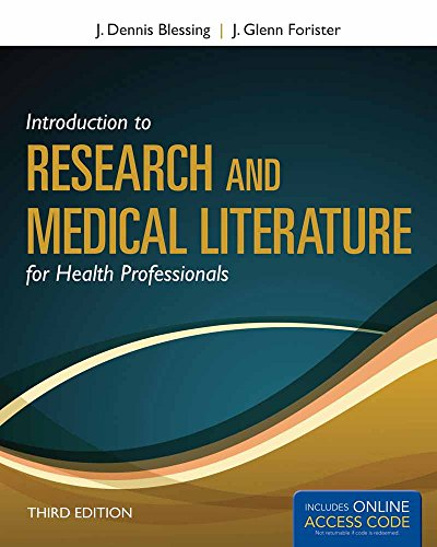 Introduction To Research And Medical Literature For: J. Dennis Blessing,