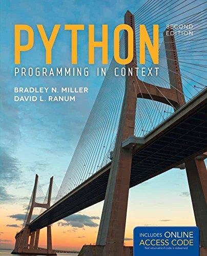 Python Programming in Context: Miller, Bradley N.;