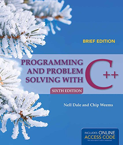 9781449694289: Programming and Problem Solving with C++: Brief