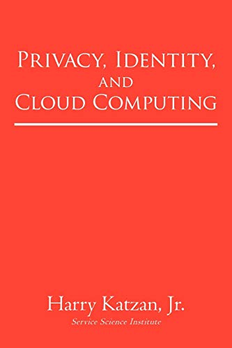 Privacy, Identity, and Cloud Computing 9781450246293 Three important technology issues face professionals in today's business, education, and government world. In Privacy, Identity, and Cloud Computing, author and computer expert Dr. Harry Katzan Jr. addresses the subjects of privacy and identity as they relate to the new discipline of cloud computing, a model for providing on-demand access to computing service via the Internet. A compendium of eight far-reaching papers, Privacy, Identity, and Cloud Computing thoroughly dissects and discusses the following: · The privacy of cloud computing · Identity as a service · Identity analytics and belief structures · Compatibility relations in identity analysis · Conspectus of cloud computing · Cloud computing economics: Democratization and monetization of services · Ontological view of cloud computing · Privacy as a service Katzan provides not only a wealth of information, but gives exposure to these topics facing today's computer users. Ultimately, these are important facets of modern computing, and all their implications must be considered thoroughly in anticipation of future developments.