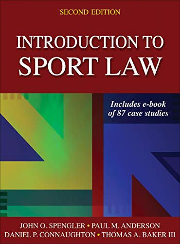 9781450457002: Introduction to Sport Law With Case Studies in Sport Law