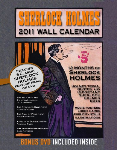 Sherlock Holmes 2011 Wall Calendar w/ Bonus DVD: Arthur Connan Doyle/ Eille Norwood/ Raymond ...