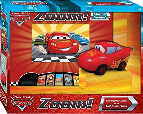 9781450801300: Disney Pixar Cars: Zoom! - Lenticular Sound Book and Cuddly Lightning McQueen