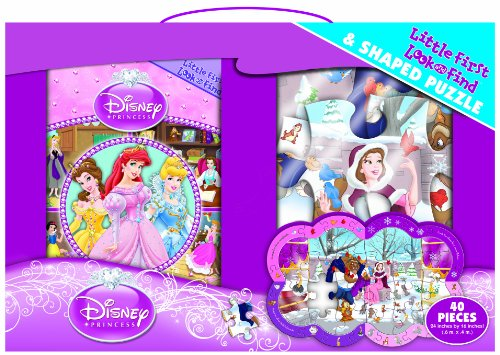9781450802567: Disney Princess Little First Look and Find and Puzzle