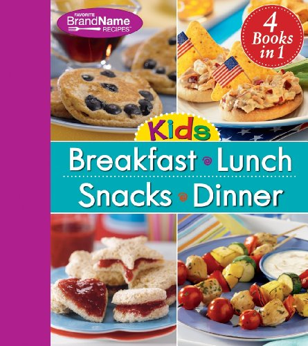 9781450810982: 4 in 1 Recipe Book for Kids: Breakfast, Lunch, Snacks, and Dinner