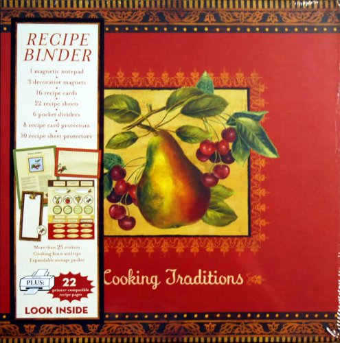 9781450817721: Cooking Traditions Pear Ultimate Scrapbook Recipe Binder with Magnetic Notepad, 3 Magnets Plus Supplies
