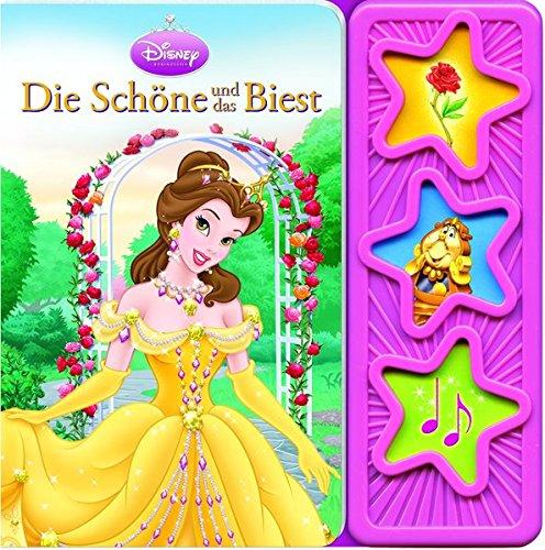 9781450829298: Die Schöne und das Biest: wattiertes Kinderbuch, 3-Button-Soundbuch, Disney-Pappbilderbuch mit 3 Geräuschen