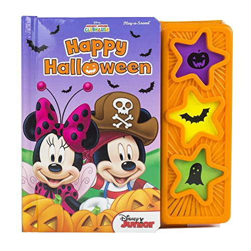 9781450831390: Mickey Mouse Clubhouse (Disney®) Happy Halloween 3 Star Sound Button 5 Spread Padded Board Book Phoenix International Publications 9781450831390