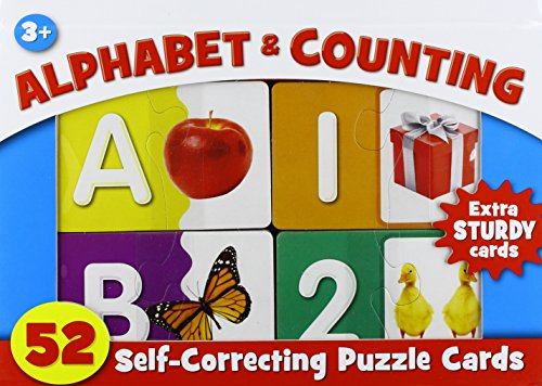 9781450840750: Alphabet & Counting Self Correcting Puzzle Cards