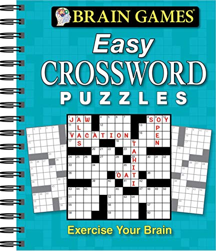 9781450852265: Brain Games® Easy Crossword Puzzles