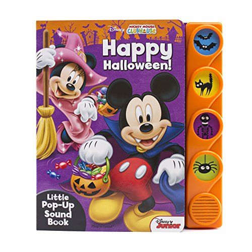 Disney Mickey Mouse Club Happy Halloween Little Pop-up Sound Book: Disney