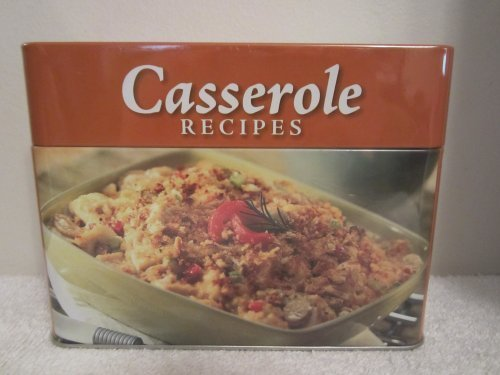 Collectible Tin with Casserole Recipe Cards: Various