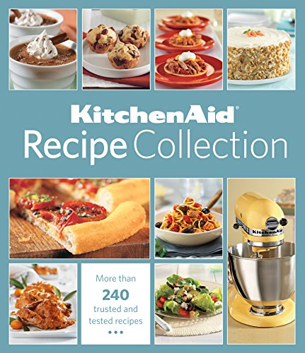 KitchenAid Recipe Collection 9781450877855 One of the most trusted names in cooking presents the new must-have kitchen accessory: KitchenAid recipe collection. With more than 240 recipes, this collection makes it easy to find the perfect recipe every time. From breakfast to breads to appetizers & entrees, & soups & salads to simple cookies & spectacular sweets, this book has it all. You'll discover quick options for weekday cooking, elegant entrees for impressive entertaining, & a sampling of world cuisine. You'll also get a chance to experience a variety of cooking techniques, like home-made pasta, cedar-plank grilling & sushi from scratch. And the exceptional dessert chapters include everything from simple Chocolate Chip Cookies to extravagant Pots de Creme au Chocolat. In addition to the recipes, this book comes with a glossary of cooking terms, full of helpful hints & tips so you can deliver perfect results every time.