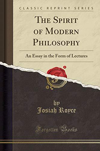 9781451003833: The Spirit of Modern Philosophy (Classic Reprint)