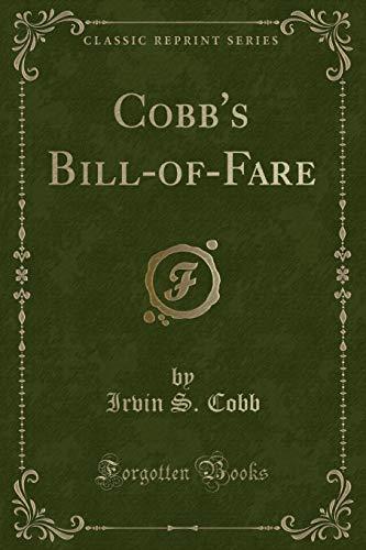 9781451007817: Cobb's Bill-Of-Fare (Classic Reprint)