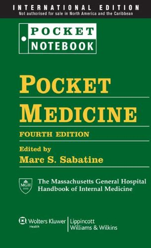 9781451103359: Pocket Medicine: The Massachusetts General Hospital Handbook of Internal Medicine (Pocket Notebook Series)
