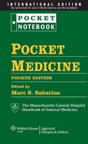 9781451103359: Pocket Medicine: The Massachusetts General Hospital Handbook of Internal Medicine (Pocket Notebook Series)