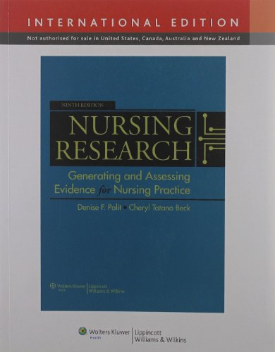 Nursing Research: Generating and Assessing Evidence for: Polit, Denise F.