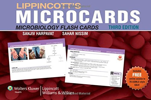 Lippincott's Microcards: Microbiology Flash Cards: Nissim MD, Sahar,