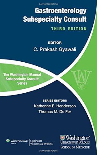 9781451114102: The Washington Manual of Gastroenterology Subspecialty Consult (The Washington Manual Subspecialty Consult)