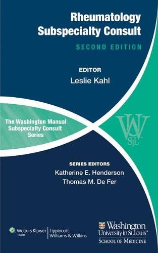 9781451114126: The Washington Manual of Rheumatology Subspecialty Consult
