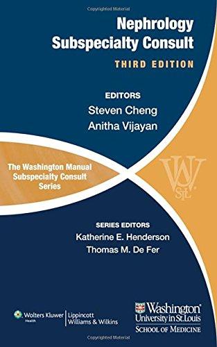 9781451114256: The Washington Manual of Nephrology Subspecialty Consult (Washington Manual: Subspecialty Consult)