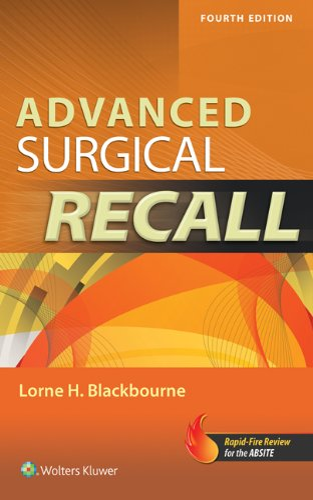 9781451116533: Advanced Surgical Recall (Recall Series)