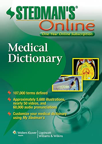 9781451127638: Stedman's Medical Dictionary Online