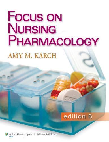 9781451128345: Focus on Nursing Pharmacology