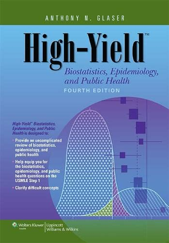 High-Yield Biostatistics, Epidemiology, and Public Health (High-Yield: Glaser MD Ph.D,