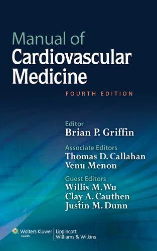 9781451131604: Manual Of Cardiovascular Medicine