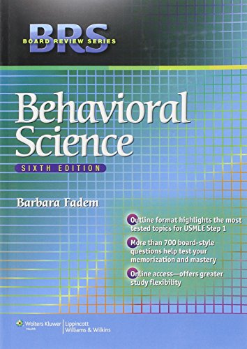 9781451132106: BRS Behavioral Science (Board Review Series)