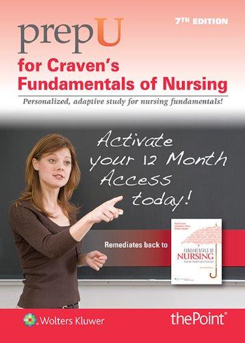 9781451146431: PrepU for Craven's Fundamentals of Nursing, Package Sales Only