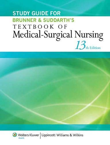9781451146684: Study Guide for Brunner & Suddarth's Textbook of Medical-Surgical Nursing