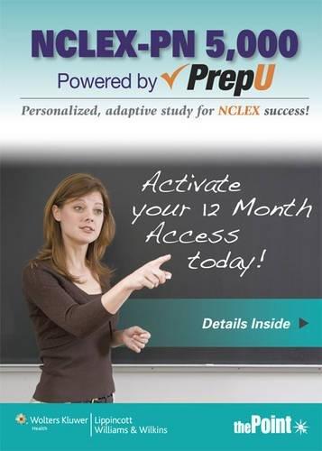 9781451158335: NCLEX-PN 5,000 Powered by PrepU