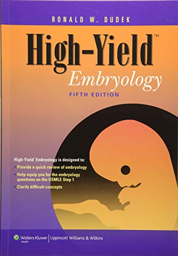 9781451176100: High-Yield Embryology (High-Yield Series)