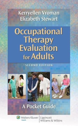 9781451176193: Occupational Therapy Evaluation for Adults: A Pocket Guide (Point (Lippincott Williams & Wilkins))