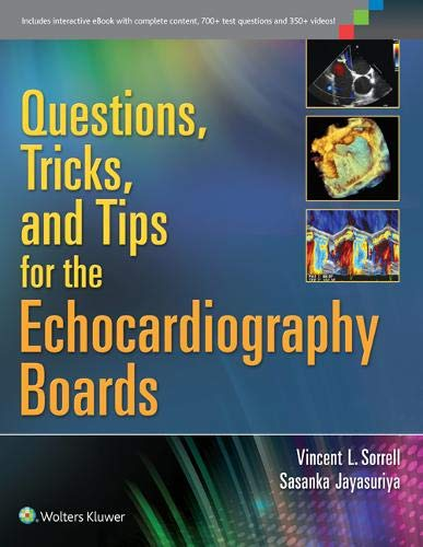 9781451176322: Questions, Tricks, and Tips for the Echocardiography Boards
