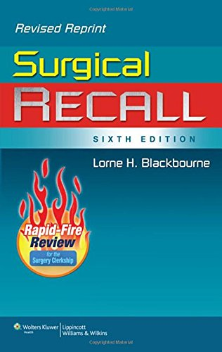 9781451176414: Surgical Recall, 6th Edition (Recall Series)
