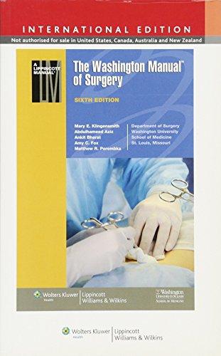 9781451176445: The Washington Manual of Surgery